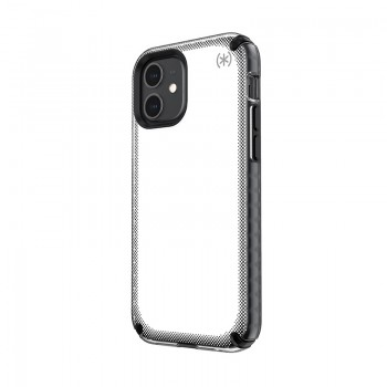 Speck Presidio2 Armor Cloud - Etui iPhone 12 / iPhone 12 Pro z powłoką MICROBAN (Clear/Black)