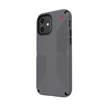 Speck Presidio2 Grip - Etui iPhone 12 / iPhone 12 Pro z powłoką MICROBAN (Graphite Grey/Bold Grey)