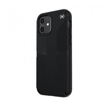 Speck Presidio2 Grip - Etui iPhone 12 / iPhone 12 Pro z powłoką MICROBAN (Black)