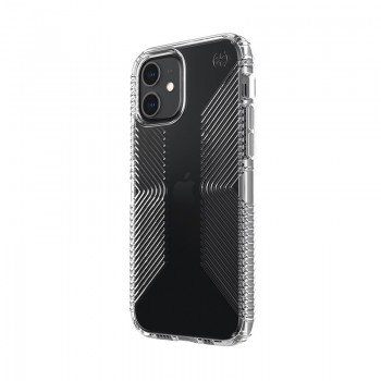 Speck Presidio Perfect-Clear with Grips - Etui iPhone 12 / iPhone 12 Pro z powłoką MICROBAN (Clear)