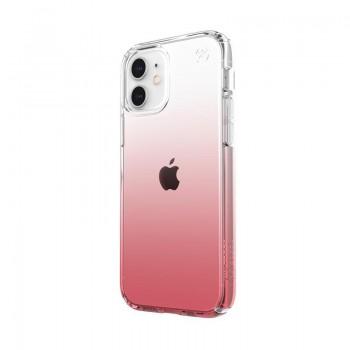 Speck Presidio Perfect-Clear + Ombre -  Etui iPhone 12 / iPhone 12 Pro z powłoką MICROBAN (Clear/ Vintage Rose)