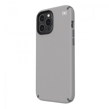 Speck Presidio2 Pro - Etui iPhone 12 Pro Max z powłoką MICROBAN (Cathedral Grey/Graphite Grey)