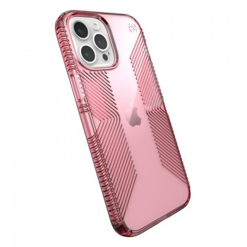 Speck Presidio Perfect-Clear with Grips - Etui iPhone 12 Pro Max z powłoką MICROBAN (Vintage Rose)
