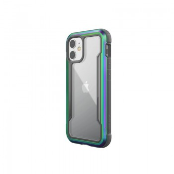 X-Doria Raptic Shield - Etui aluminiowe iPhone 12 Mini (Drop test 3m) (Iridescent)