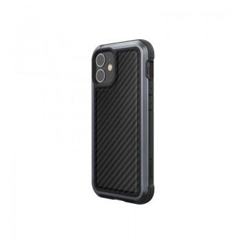 X-Doria Raptic Lux - Etui aluminiowe iPhone 12 Mini (Drop test 3m) (Black Carbon Fiber)