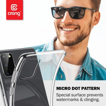 Crong Crystal Slim Cover - Etui OnePlus 7T Pro (przezroczysty)