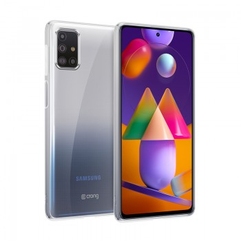 Crong Crystal Slim Cover - Etui Samsung Galaxy M31s (przezroczysty)