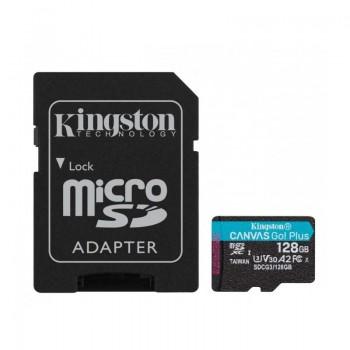 Kingston Canvas Go Plus microSDXC - Karta pamięci 128 GB z adapterem