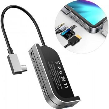 Baseus Hub - Stacja / replikator z USB-C na USB / 4K HDMI / czytnik kart TF, SD / USB-C PD / 3.5mm mini jack