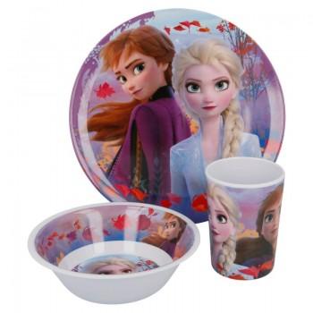 Frozen - Zestaw śniadaniowy z melaminy 3w1 (talerz, miseczka, kubek)