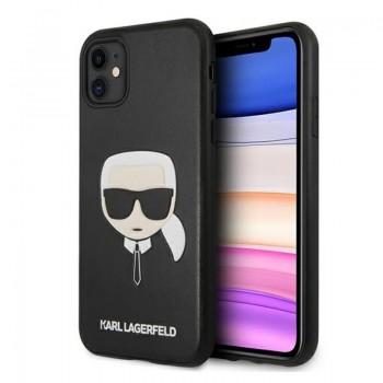 Karl Lagerfeld Silicone Ikonik Karl`s Head - Etui iPhone 11 (czarny)