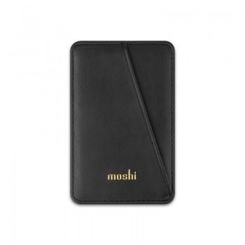 Moshi Slim Wallet - Portfel magnetyczny  (System SnapTo™) (Jet Black)