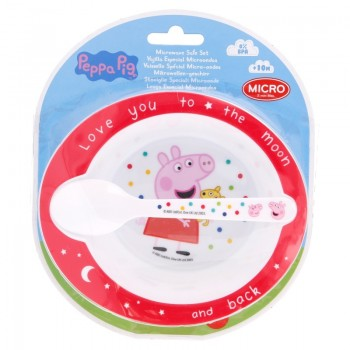 Peppa Pig - Zestaw naczyń (miska + łyżeczka)