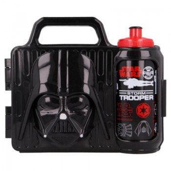 Star Wars - Zestaw lunchbox 3D + bidon (Darth Vader)
