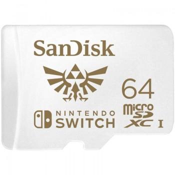 SanDisk Nintendo Switch microSDXC - Karta pamięci 64GB V30 UHS-I U3 100/60 Mb/s