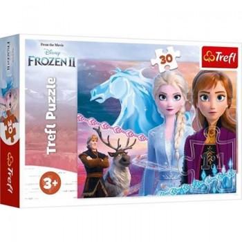 Trefl - Puzzle Frozen 2 Odwaga Sióstr 30 ele.
