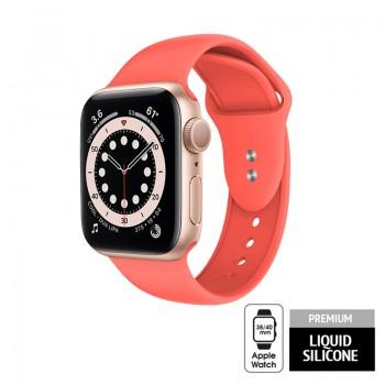 Crong Liquid - Pasek do Apple Watch 38/40mm (koralowy)