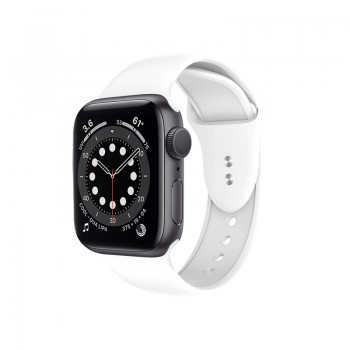 Crong Liquid - Pasek do Apple Watch 42/44mm (biały)
