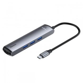 Baseus Hub - Adapter z USB-C na 3x USB, HDMI, RJ45