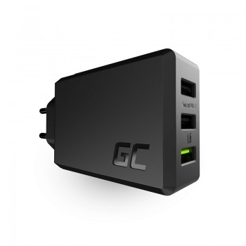 Green Cell - Ładowarka sieciowa ChargeSource 3 3xUSB 30W Ultra Charge, Smart Charge