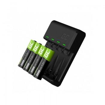 Green Cell - Ładowarka VitalCharger + 4x Baterie Akumulatorki AA 2000mAh Ni-MH