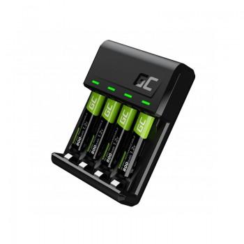 Green Cell - Zestaw ładowarka VitalCharger i 4x baterie akumulatorki AAA / HR03 800mAh