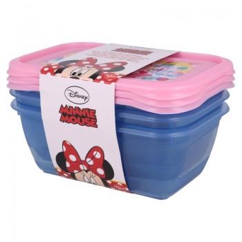 Minnie Mouse - Zestaw pojemnikow na żywność 540 ml (3 szt.)