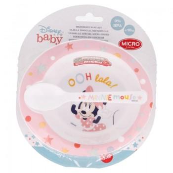 Minnie Mouse - Zestaw do mikrofali (miska z łyżeczką)