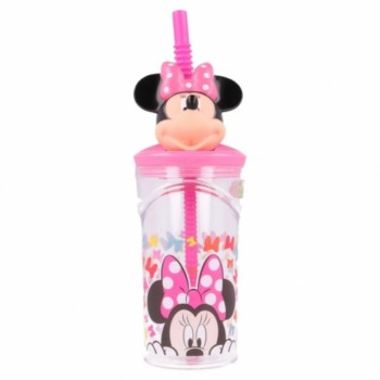 Minnie Mouse - Kubek 3D ze słomką 360 ml