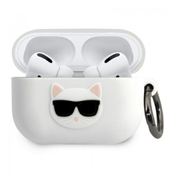Karl Lagerfeld Choupette 3D - Etui Apple Airpods Pro (white)