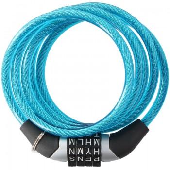 Dunlop - Zapięcie do roweru z szyfrem (Niebieski)