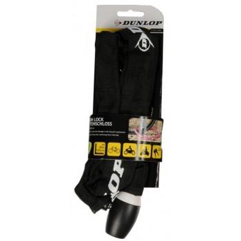 Dunlop - Zapięcie rowerowe na zamek łańcuch 120cm (Czarny)