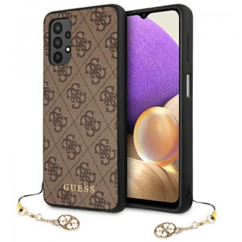 Guess 4G Charms Collection - Etui Samsung Galaxy A32 LTE (brązowy)
