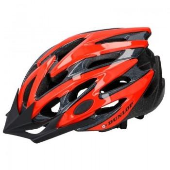 Dunlop - Kask rowerowy MTB (Czerwono-czarny)