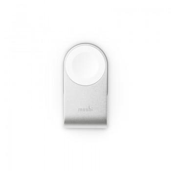 Moshi Flekto - Składana ładowarka MFi do Apple Watch z kablem USB (srebrny)