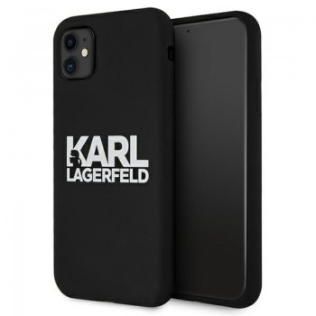 Karl Lagerfeld Silicone Stack Logo - Etui iPhone 11 (czarny)