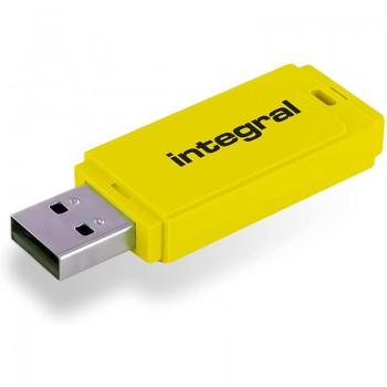 Integral Neon - Pendrive 64GB USB 3.0 (Żółty)