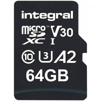 Integral UltimaPRO microSDXC - Karta pamięci 64GB C10 UHS-I U3 A2 V30