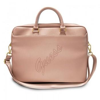 "Guess Saffiano Script Computer Bag – Torba na notebooka 15"" (różowy)"