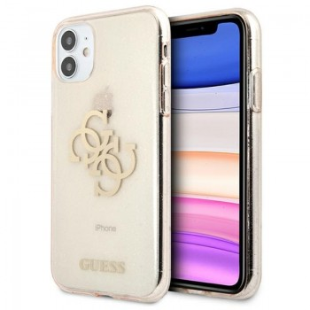 Guess Glitter 4G Big Logo - Etui iPhone 11 (złoty)