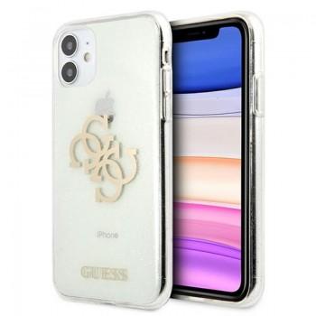 Guess Glitter 4G Big Logo - Etui iPhone 11 (przezroczysty)