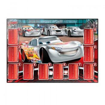 Cars - Mata gamingowa / na biurko z tabliczka mnożenia (czerwony)