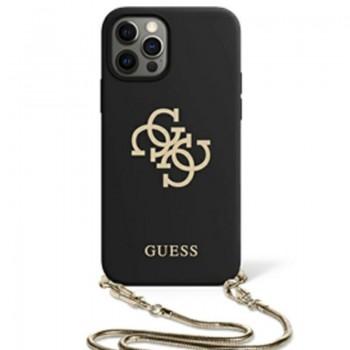 Guess 4G Big Logo Chain - Etui iPhone 11 (czarny)