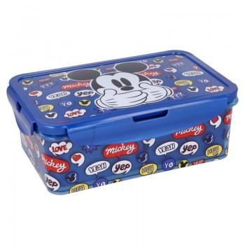 Mickey Mouse - Lunchbox / pudełko śniadaniowe z wyjmowanymi przedziałkami 1190ml
