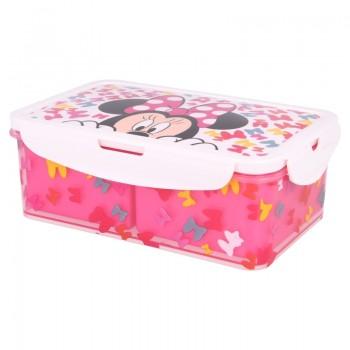 Minnie Mouse - Lunchbox / pudełko śniadaniowe z wyjmowanymi przedziałkami 1190ml