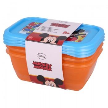 Mickey Mouse - Zestaw pojemników na żywność 540ml (3szt.)