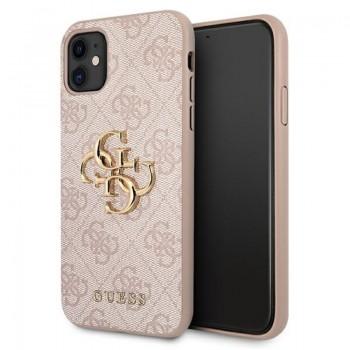 Guess 4G Big Metal Logo - Etui iPhone 11 (różowy)