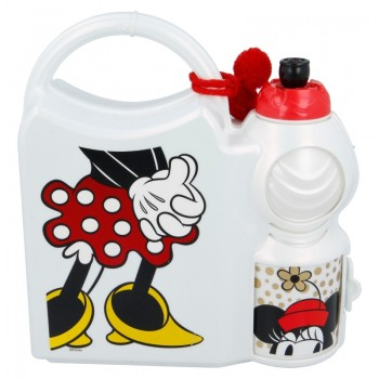 Minnie Mouse - Zestaw lunchbox i bidon 400 ml