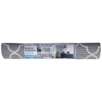 Łazienkowa mata antypoślizgowa 65 x 180 cm Koniczyna marokańska (szary)