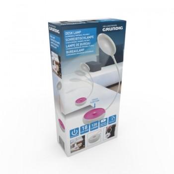 Grundig - Składana lampka biurowa LED 15cm (różowy)